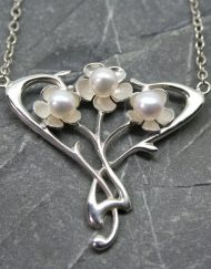 Silver & pearl Art Nouveau pendant | Starboard Jewellery