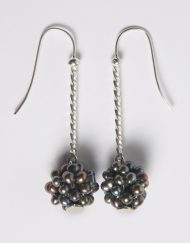 Silver & freshwater pearl cluster earrings | Starboard Jewellery