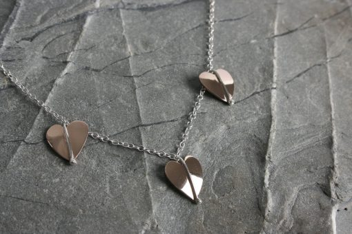 Silver and bronze necklet