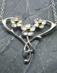 Sterling silver Art Nouveau Pendant