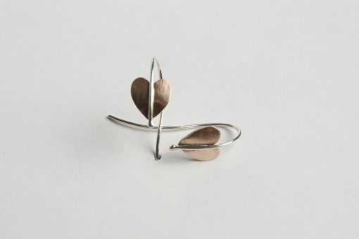Bronze and silver earrings