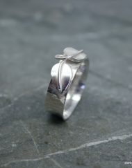 Two leaf silver ring | Starboard Jewellery
