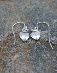 Handmade sterling silver single drop earrings