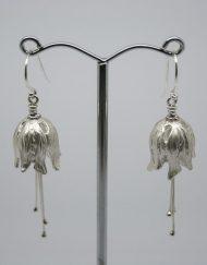 Handmade silver harebell earrings | Starboard Jewellery