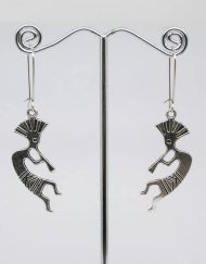 Kokopelli fertility dance earrings - Native American