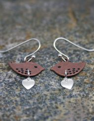 Copper Lovebird Earrings