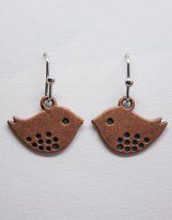 Copper Lovebird Earrings