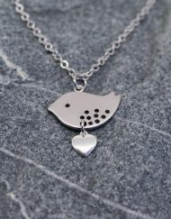 Love bird pendant with heart | Starboard Jewellery