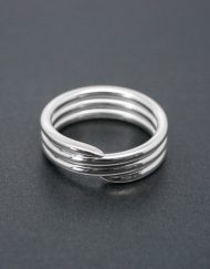 Three band silver coil ring | Starboard Jewellery