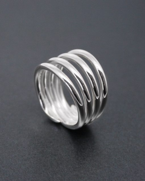 Four band silver coil ring | Starboard Jewellery
