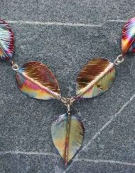 Silver and copper five leaf necklace | Starboard Jewellery
