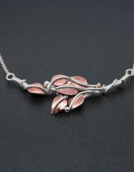 Handmade silver & copper leaf necklace | Starboard Jewellery
