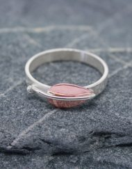 Silver ring with copper leaf   Starboard Jewellery
