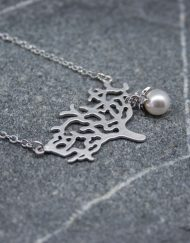 Tree & pearl necklace
