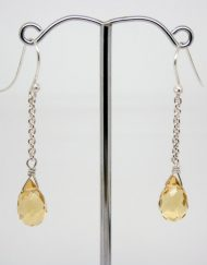 Critine briollete and silver drop earrings