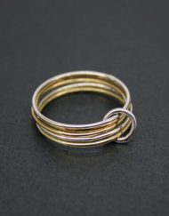 Silver and gold filled fine 5 wire ring