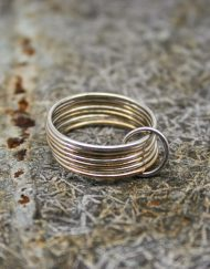 Silver and gold filled fine 7 wire ring
