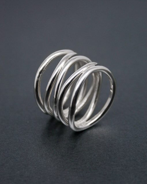 Silver roller coaster ring