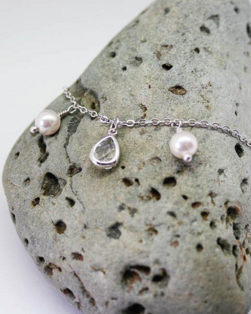 Crystal and swarovski pearl bracelet 2