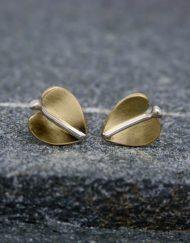 Leaf-stud-earrings | Starboard-Jewellery