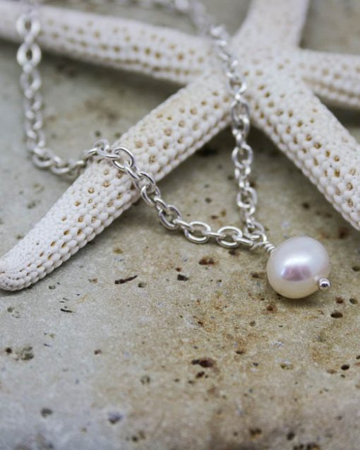 Sterling silver and freshwater pearl bracelet 1
