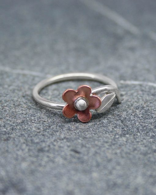 Sterling silver and copper ring 1