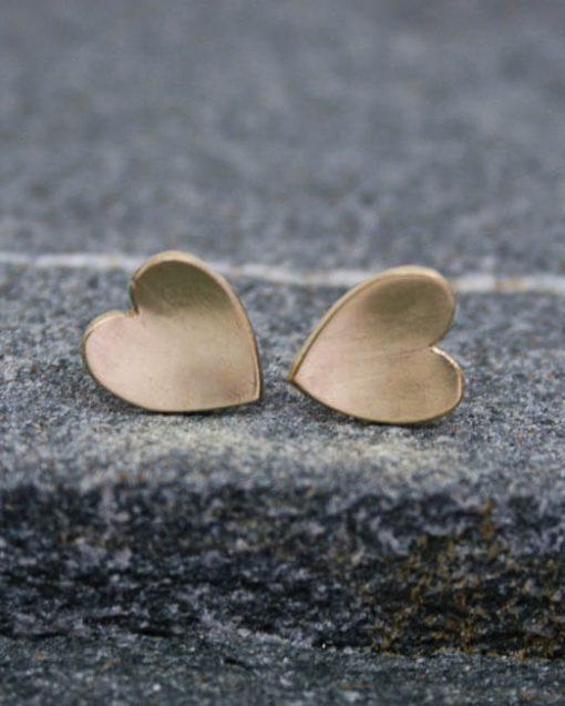 Small heart stud earrings | Starboard Jewellery (1 of 1)