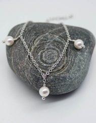 Three Swarovski pearl bracelet