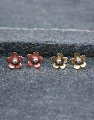 daisy stud earrings   Starboard Jewellery