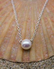 Sterling silver chain and pearl necklace